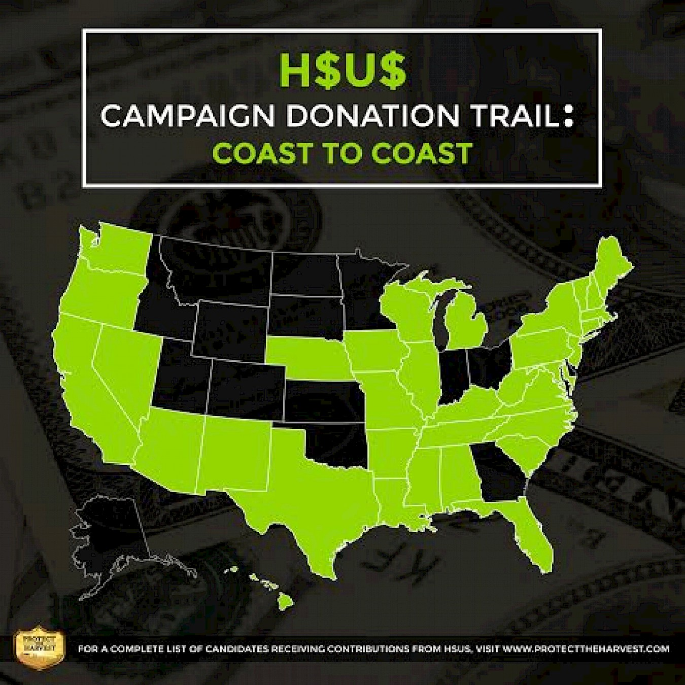 HSUS Campaign Donation Trail: Coast to Coast