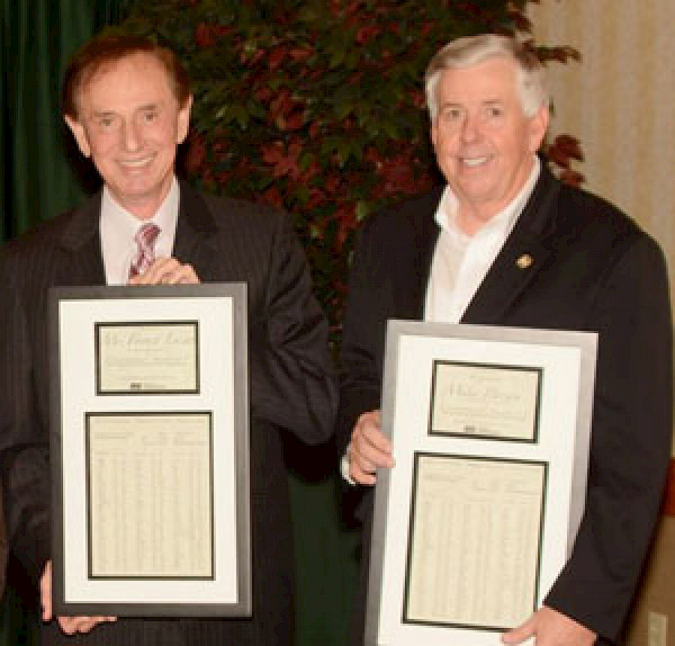 Forrest Lucas and Senator Mike Parson Honored For Missouri Amendment 1 Work