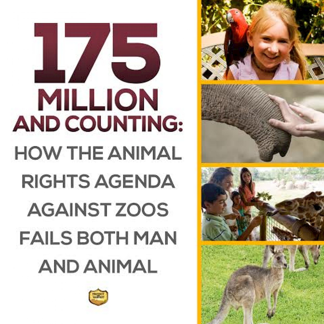 175 Million and Counting: How the Animal Rights Agenda against Zoos Fails Both Man and Animal