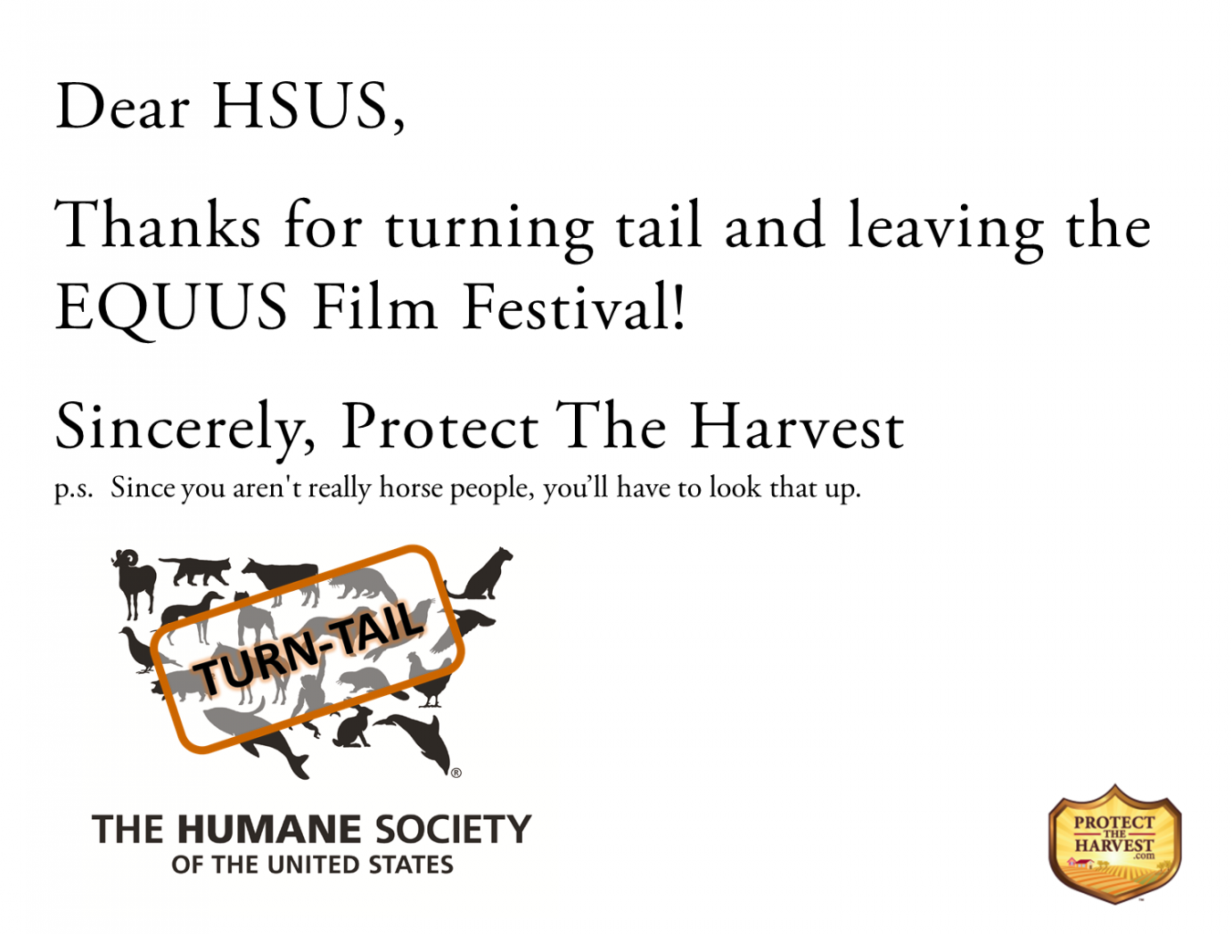 Thank You HSUS for Turning Tail