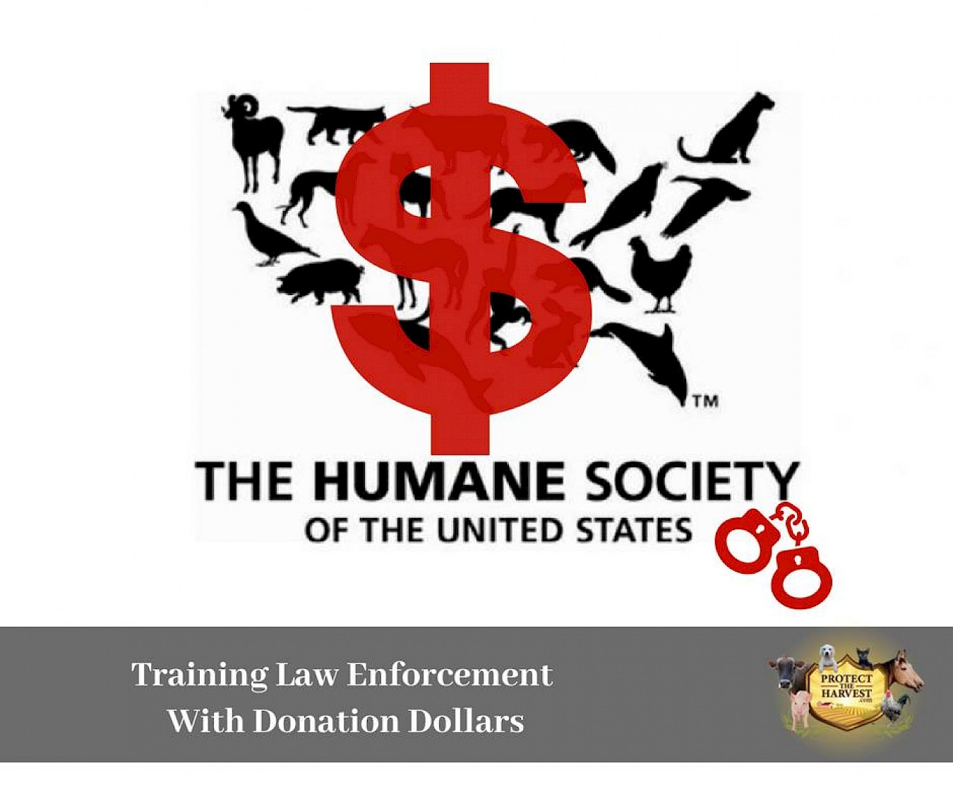Money Donated To HSUS Is Used To Train Law Enforcement And To Meddle In Environmental Issues