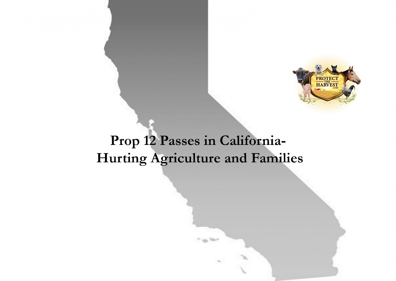 Prop 12 Passes In California – Hurting Agriculture And Families