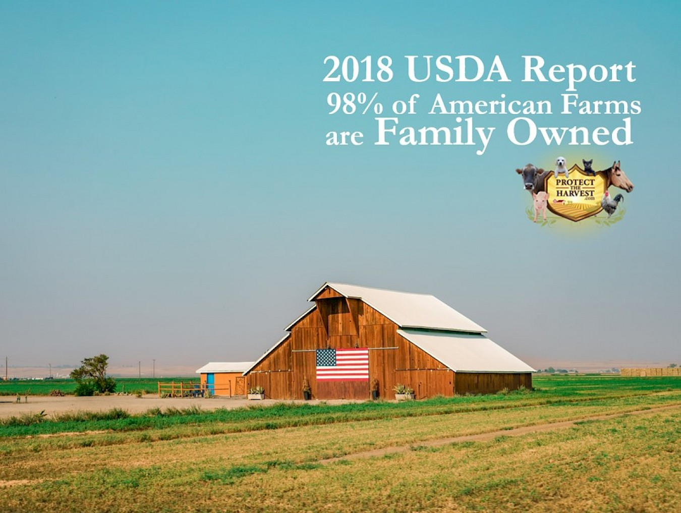 USDA 2018 Family Farm Report - 98% of American Farms are Family Owned
