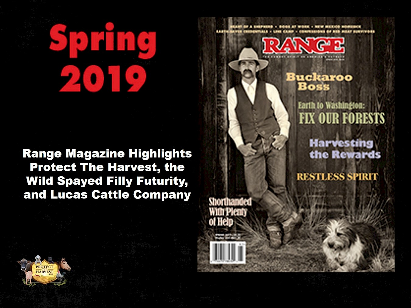 Range Magazine Highlights Protect The Harvest, the Wild Spayed Filly Futurity, and Lucas Cattle Company