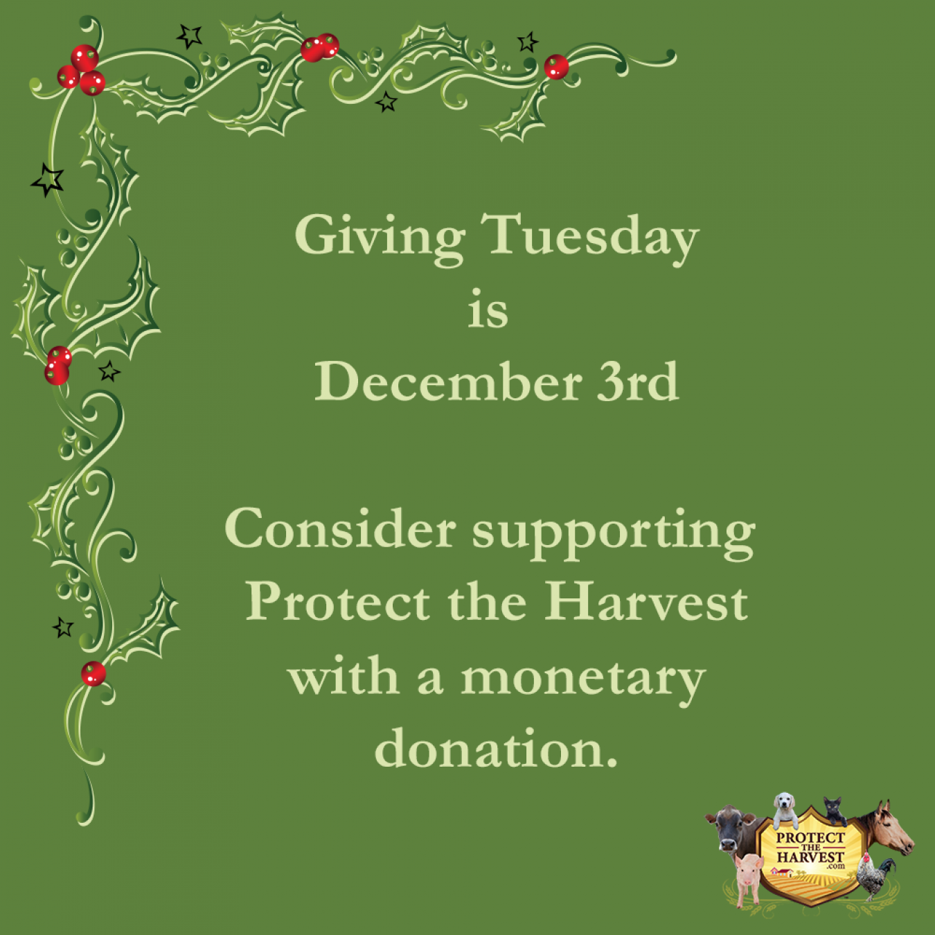 Giving Tuesday - Dec. 3, 2019